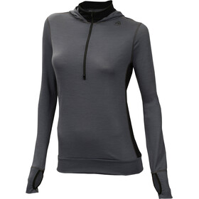 Aclima LightWool Hoodie Women Iron Gate/Jet Black